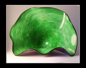 Purple and Green Glass Fan Shell