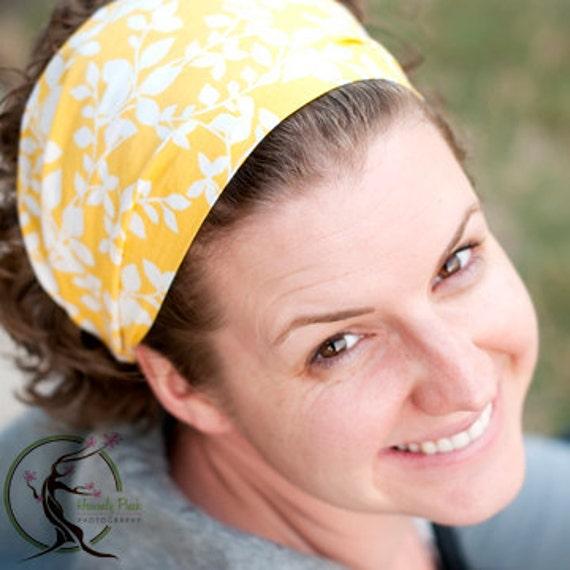 Headscarf Headband Yellow Hair Band Headscarves Head Scarf Head Wrap (Item 4229) PR Size S, M, L