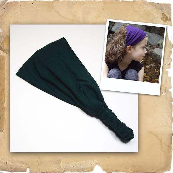 Stretchy Headband - Forest Green Stretch Hair Band, Stretchy Hairband