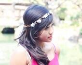 bridal headband, wedding accessories, woodland bridal wreath, vintage headpiece, bridal tiara