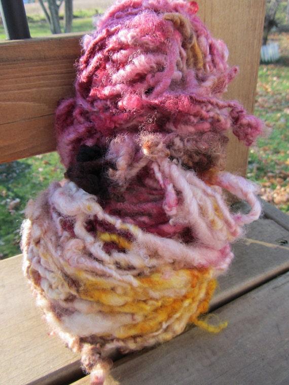 Sunny Autumn Day HandSpun and Hand Dyed Yarn