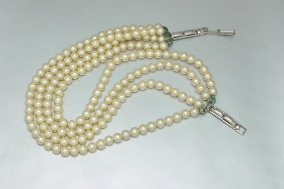 Vintage Glass Pearl Choker Necklace FOR REPAIR