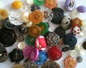 50 Random Assorted Buttons-Grab Bag