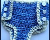 CROCHET PATTERN num. 55, Hat and Diaper cover  3 sizes, newborn to 12 months,instant download
