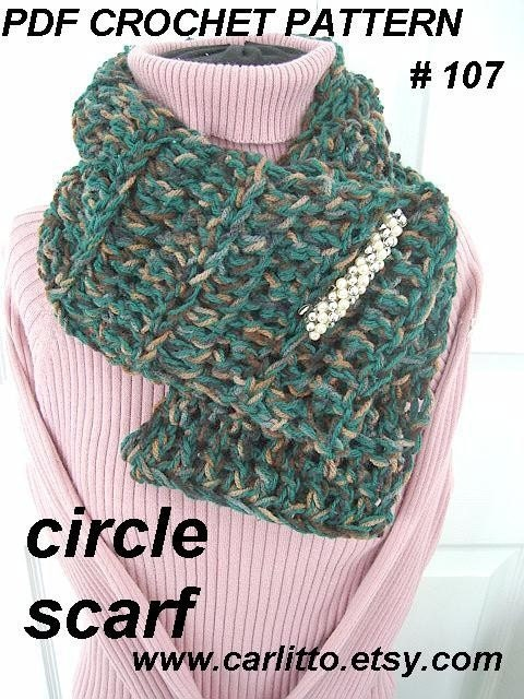 how to wear small circle scarf