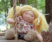 Taryn, 10 inch AppleTreeHouse Ragdorf Doll, Waldorf Ragdoll Style, Cloth, Handmade