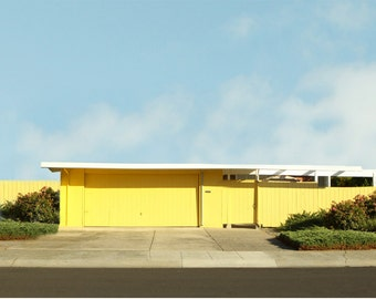 Modern  Architectural Photography  Minimalist Mid Century Yellow Home