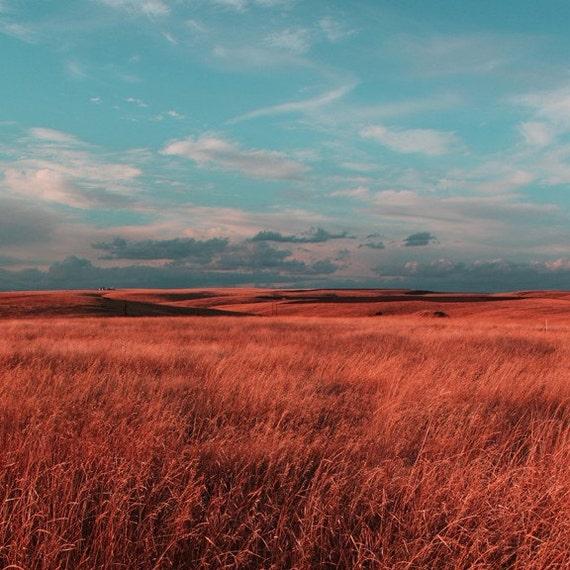 A Turquoise Sky Landscape 8x8 Archival Photograph