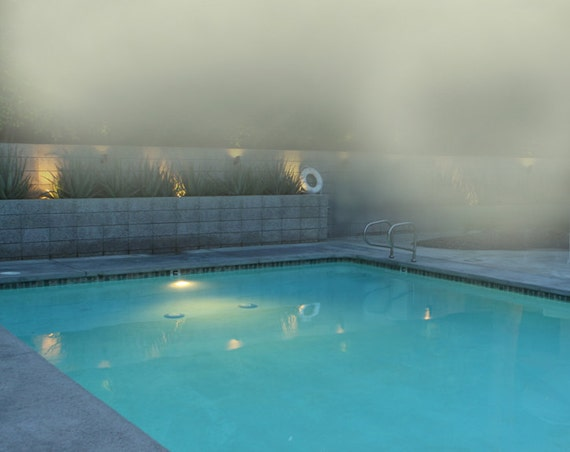 MODERN Swimming Pool Photo at the Beach in the Fog Mid Century Pool