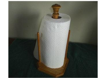 Wood Paper Towel Holder Oak