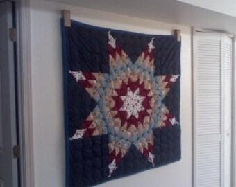 Quilt Holder Hanger Rack Oak Towel Holder HandMade Wood