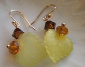 Yellow Autumn Leaf Earrings
