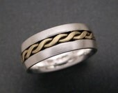 Sterling & 18K Two Wire Twist Inlay