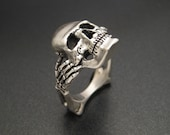 Sterling Skull and Bones Ring