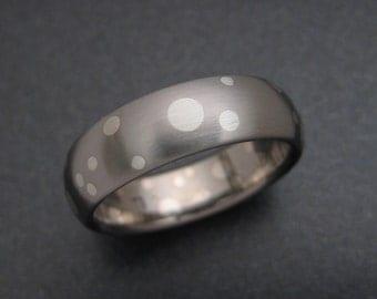 Titanium / Fine Silver Pop Art Ring