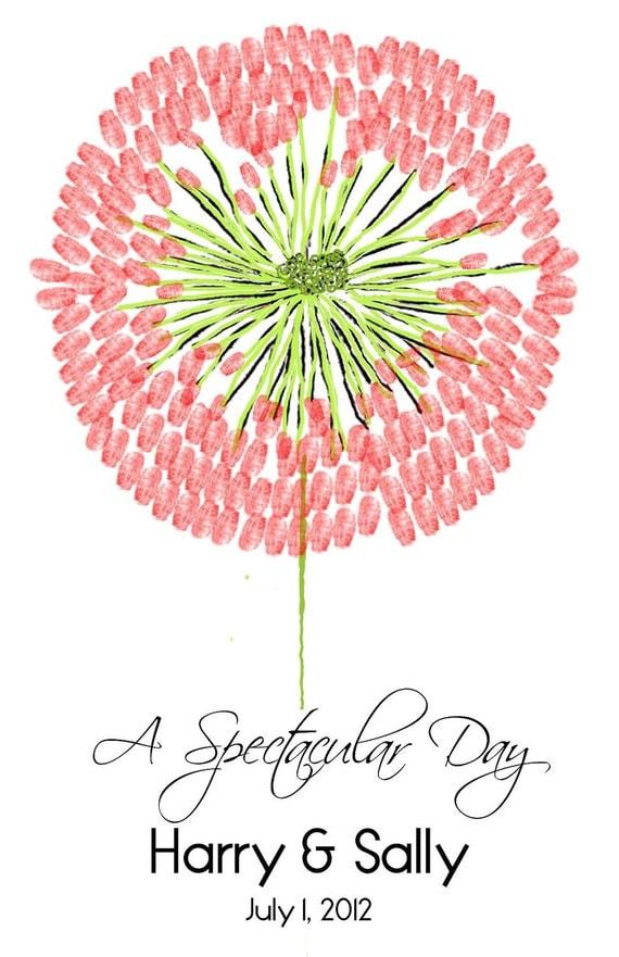 Blossom Wedding Tree Guest Book customizable pdf file