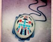 Sterling silver vintage Native American Necklace