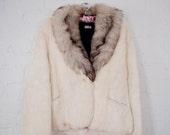 Small White Rabbit Fur Coat