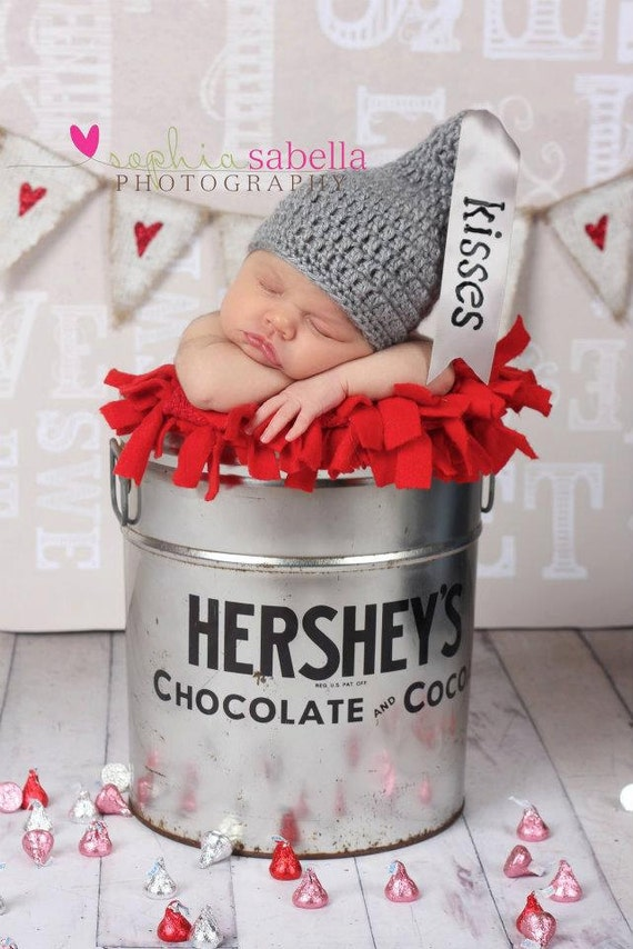 Crochet Baby Hershey Kiss Hat Pattern : Items similar to Newborn Crochet HERSHEY KISS Hat ...