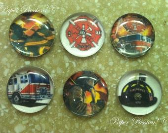 Handmade Fire Fighter Magnets (set of 6)