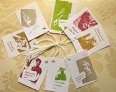 Shirty Comment gift tags pack of 8