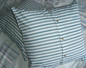 SALE Pair of Stuffed Shirt Stripey Ocean Pacific Yacht Caravan cushion covers