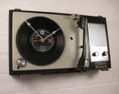 Vintage Personalised Record Player Clock