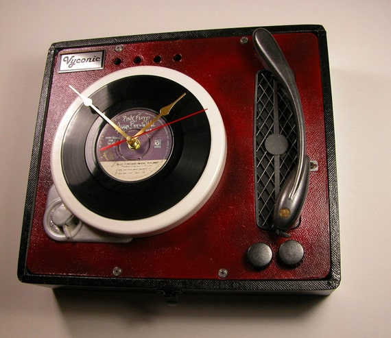 Unique Pink Floyd record player / Turntable Wall clock