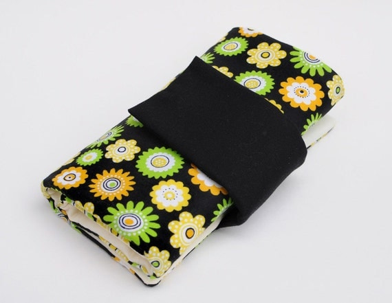 Knitting Needle Case for Interchangeable Tips and Circulars - Bright Flowers