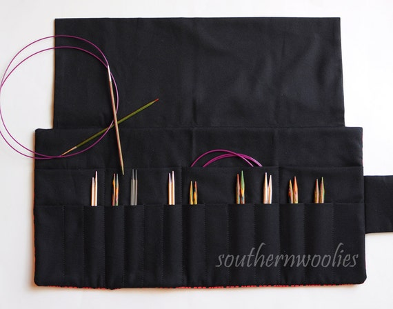 Knitting Needle Case For Interchangeable Tips And
