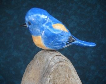 STONEWARE WESTERN BLUEBIRD