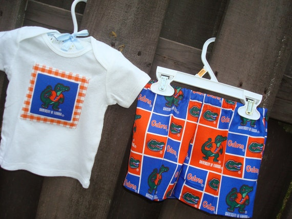 Boys Gator Game Day Outfit, Made to Match Sister, Gator Fans, University of Florida