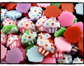 50pcs ice Cream CUPCAKE CANDY Flat Back Cabochons F339