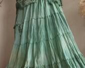 Custom order for Amanda  Sea garden long skirt,  Fae nature spirit clothing