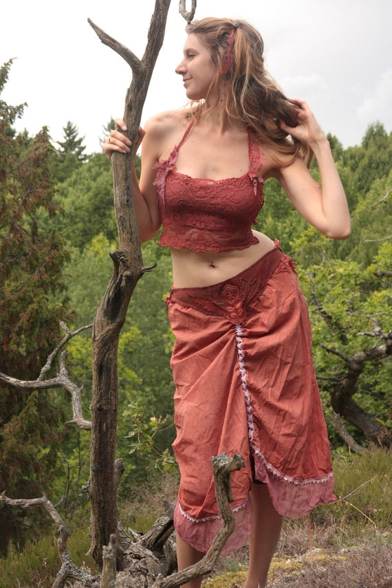 Red riding hood gypsy pirate skirt