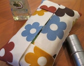 Modern Flowers Tissue Pouch / Holder / Travel Size READY TO SHIP