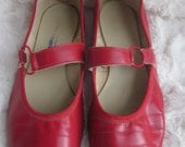 Ringo by Coast Shoes L.A. 8.5 Square Dance Rockabilly Red