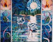 The Jabberwocky-full wall quilt-tryptic