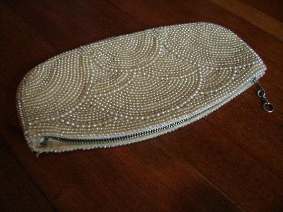 small pearl clutch