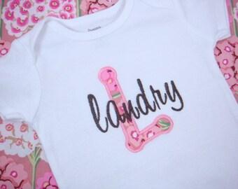 Baby Girl bodysuit - Personalized Baby Girl bodysuit - Pink Flowers Girl bodysuit - Baby Shower Gift