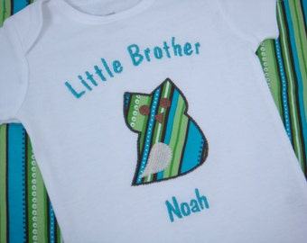 Personalized Little Brother Owl Bodysuit - Little Brother Shirt - Little Brother Owl Shirt