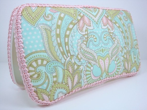 Boutique Style Diaper Wipes Case - Tula Pink Designer Hushabye Fabric - EMBROIDERY AVAILABLE