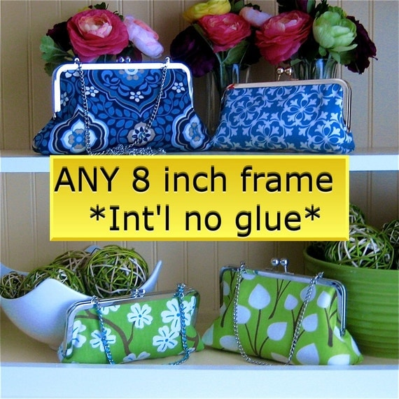 8x3 Make-Your-Own Clutch Kit:  add your own fabric - INT'L no glue -
