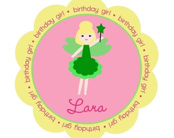 Tinkerbell Personalized Birthday Girl Shirt or Bodysuit - Personalized with ANY name