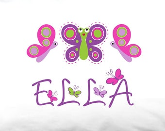 Personalized Butterfly Standard Pillowcase - Customized with ANY Name