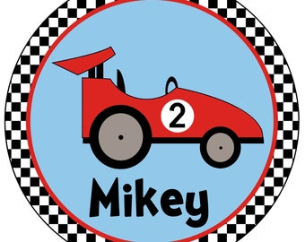 Personalized Racecar Birthday Shirt - Personalized with ANY name and age
