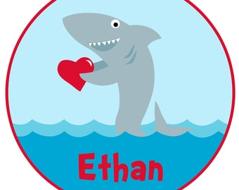 Love Shark Valentine Shirt or Bodysuit - Perfect for Valentine's Day