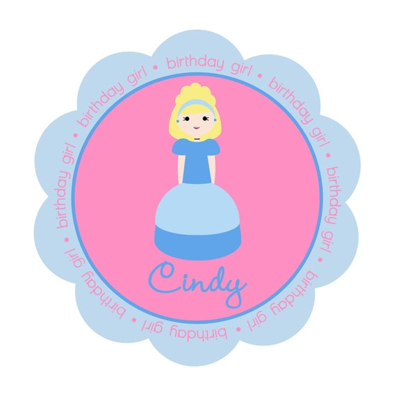 Cinderella Princess Personalized Birthday Girl Shirt or Bodysuit - Personalized with ANY name