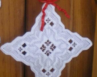 "Hardanger Holiday Ornament  -   ""Star"""