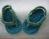Crocheted Baby Flip Flops- you pick colors